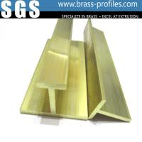 Quality Solid Golden Brass T Moding Plate / Extruding Copper T Slot Frames for sale