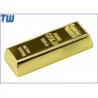 Wholesale Shinning Golden Brick 16GB USB Stick Slip Button Laser Logo Engraved from china suppliers