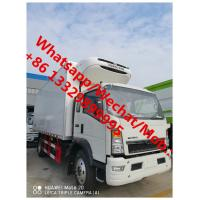 China SINO TRUK HOWO 4*2 6 wheels light duty right hand drive howo refrigerated truck for sale, best price cold van truck, on sale