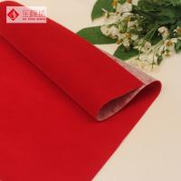Wholesale Nonwoven Plain Flocked Velvet Fabric Polyester Red Knitted from china suppliers