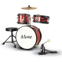 Wholesale Red Complete Set 3 Piece Junior Kids Drum Set Percussion Kit With Cymbal Z343S-801 from china suppliers