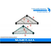 Wholesale Triangle Shaped Chrome Wire Shelving , Stainless Steel Wire Shelves For Garage / Kitchen from china suppliers