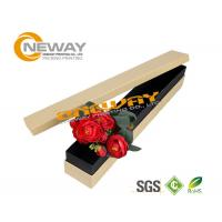 Wholesale Beautiful Texture Paper Single Rose Flower Packaging Box for Valentine'S Day Present from china suppliers