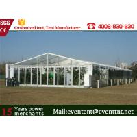 Wholesale Clear Roof Party Tent For 300 People , Transparent Wedding Tent With PVC Fabric from china suppliers