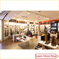 Wholesale Customized fashion retail wall wood display shelf shoes store furniture from china suppliers
