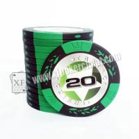 Wholesale Texas Holdem Poker Chips / Mahjong Baccarat Chip Coins 40mm * 0.3mm from china suppliers