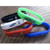 Wholesale Green Silicone 32GB Wristband USB Flash Drive With Customized Logo Print from china suppliers