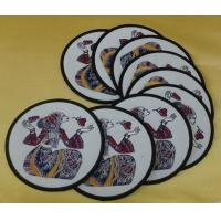 Wholesale Exquisite embroidered table coasters, embroidered cotton fabric place mats for tableware, from china suppliers