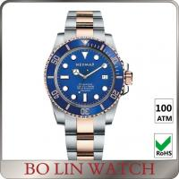 Quality Swiss 2824 Movement Blue Dial Dive Watches , Classic Design Sapphire Crystal Watch for sale