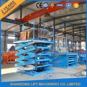 Quality 3.5T 7.5M Hydraulic Scissor Lift Platform Warehouse Material Handling Lift CE for sale