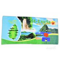 Wholesale Plain Style Custom Printed Beach Towels For Gifts / Sports 350gsm from china suppliers