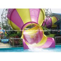 Wholesale Small fiberglass water slide for parents and kids interaction water fun from china suppliers