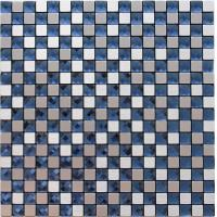 Wholesale Silver Brushed Particle Glass And Metallic Mosaic Wall Tiles With Blue Crystal Diamond Glass from china suppliers