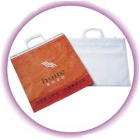 Wholesale Eco - friendly Shopping Plastic Handle Bag With Hard Loop , Snap Button from china suppliers