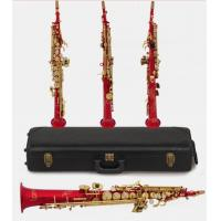 Wholesale New Arrival High Grade International Standard Process Saxophone, G-key,Full Flower Falling Tune B Soprano Saxophone from china suppliers