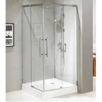 Wholesale Stainless steel #304 frame sliding tempered glass design shower enclosure with S.S. handle from china suppliers