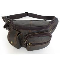 Quality New Fashion Style First Layer Leather Men's Shoulder Bag Purse Waist Pack #6103 for sale