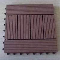 Wholesale Brown WPC DIY Tile and Engineered Flooring for Outdoor Wall Decoration from china suppliers