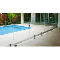 Wholesale Transparent Outdoor Glass Fence , Fully Frameless Glass Pool Fencing from china suppliers