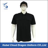 Wholesale Formal Cotton Security Guard T Shirts , Custom Security Polo Shirts Standard 2 Button Placket from china suppliers