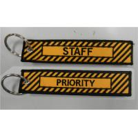 Wholesale Embroidered PRIORITY STAFF Key Tag/ Bag Tag from china suppliers