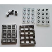 Public security door phone metal keypad parts with keys, silicone and frame for Taiwan for sale