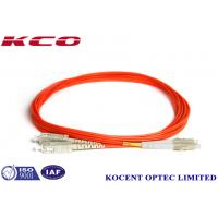 Wholesale PVC LSZH 1.0m Fiber Optic Patch Cord MM  DX LC/UPC-SC/UPC 3.0mm from china suppliers