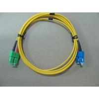 Quality SM Duplex 2.0MM Optical Fiber Patch Cord , SC / APC to SC / UPC OFNR Cable for sale