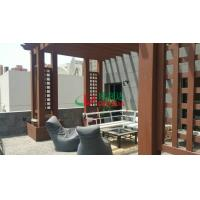 Wholesale Wood plastic composite Customized Pergola construction project Environmental Friendly in Kuwait from china suppliers