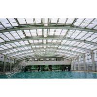 Quality Durable Steel Structures Space Frame Roof  Swimming Pool Cover Simple Installation for sale
