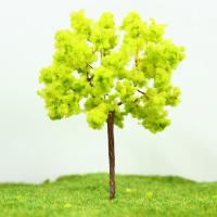 Wholesale Architectural Miniature Scale Model Trees Yellow Green Avenue Wire Tree 9cm from china suppliers