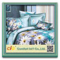 Wholesale Shrink Water 100% Cotton  3D Bed Sheet Set For Printing Bedding Sheets from china suppliers