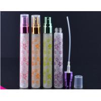 Wholesale 10ml butterfly frosting cosmetic packaging bottle Portable perfume glass tube bottles from china suppliers