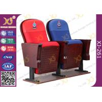 Wholesale East African Vintage Auditorium Church Hall Chairs With Embroidered Logo On Back from china suppliers