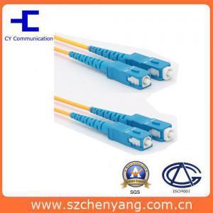 Quality SM Duplex Fiber Optic Patch SC / UPC Connector PVC Cable for sale