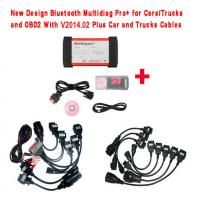 Wholesale New Design Bluetooth Multidiag Pro+ V2014.03 for Cars/Trucks and OBD2 with Full cables from china suppliers