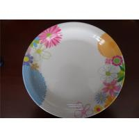 Quality Tasteless Melamine Plastic Plates , Kitchen Dinnerware Plastic Dinner Plate Sets for sale