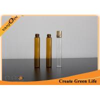 Wholesale Customized 10ml Amber Small Glass Vials with Plastic Screw Cap for Essential Oils from china suppliers