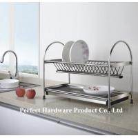Wholesale Free Standing 2 Tier Stainless Steel Kitchen Dish Rack With Draining Plate Holder PT-DR002 from china suppliers