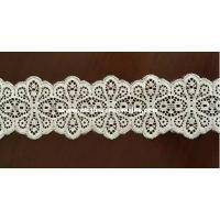 Wholesale Women Flower Off White Lace Fabric / Narrow Vintage Double Sided Lace Trim from china suppliers