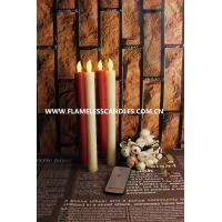 Wholesale Long Push-Activated Flickering Flameless Candles / Ivory Wax Flameless Taper Candles from china suppliers