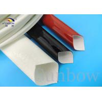 Wholesale Silicone Rubber Coated High Temperature Fiberglass Sleeve Silicone Fiberglass Sleeving from china suppliers