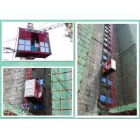 Quality Double Cabin Rack And Pinion Construction Hoist For Passenger / Material for sale