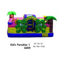 Wholesale Durable PVC Tarpaulin Inflatable Fun City Happy Zoo Paradise Inflatable Bouncy House from china suppliers