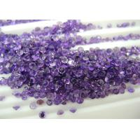 Wholesale 2.5mm Round Purple Natural Amethyst Stones For Loose Gemstones Pendants from china suppliers