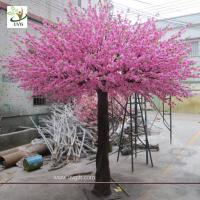 Wholesale UVG 10 foot pink peach blossom artificial trees indoor for cheap wedding decorations CHR160 from china suppliers