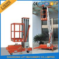 Wholesale Single Four Mast Aluminum Alloy Aerial Work Platform Lift For Aerial Work CE Hydraulic from china suppliers