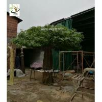 Wholesale UVG indoor large fake trees realistic banyan tree with silk leaves for sale GRE062 from china suppliers