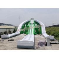Wholesale Giant Green Exciting Trippo Inflatable Water Slide With 3 Lane For Adult from china suppliers