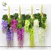 Wholesale UVG Artificial Flower for Wall Decoration in White Wisteria wedding use china market from china suppliers